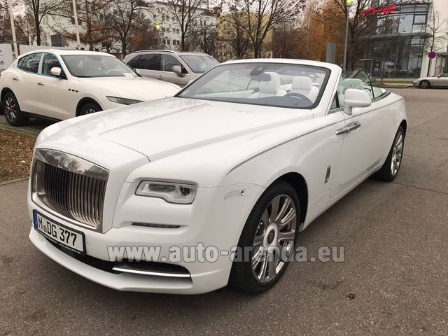 Rental Rolls-Royce Dawn in Saint-Julien-Mont-Denis